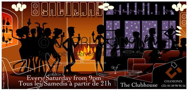 Flyer Saturdays au Club House Chamonix