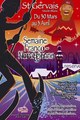St Gervais France Norway week poster
